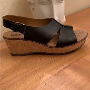 Clarks Cork Wedge Sandal